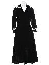 Womens Fab 50s Velvet Dress