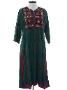 Womens Ethnic Hippie A-Line Dress