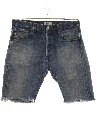 Mens Levis 501 Cut Off Grunge Denim Shorts