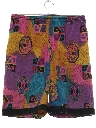 Mens Totally 80s Print Baggy Print Shorts