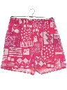 Womens Totally 80s Print Baggy Shorts