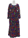 Womens Pow-Flower Hippie Maxi Dress
