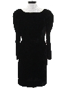 Womens Velvet Wiggle Cocktail Dress