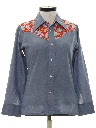 Womens Western Chambray Hippie Shirt