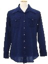 Mens Knit Western Shirt
