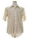 Mens Shiny Nylon Solid Disco Shirt