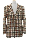 Mens Plaid Blazer Sport Coat Jacket
