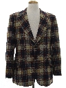 Mens Plaid Wool Blazer Sport Coat Jacket