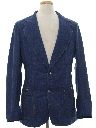 Mens Denim Disco Blazer Sport Coat Jacket
