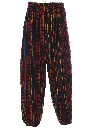Mens Baggy Guatemalan Pineapple Express Style Print Hippie Pants