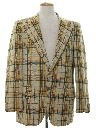 Mens Plaid Blazer Sportcoat Jacket