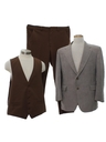 Mens Combo 3 Piece Disco Suit