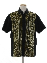 Mens Asian Inspired Hippie Sport Shirt