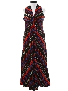 Womens Mod Maxi A-Line Halter Dress