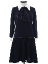 Womens Mod Knit A-Line Secretary Dress