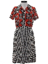 Womens Mod Print Dress