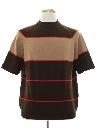 Mens Mod Banlon Knit Shirt