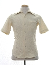 Mens Mod Knit Sport Shirt