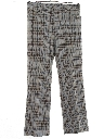 Mens Flared Plaid Leisure Pants