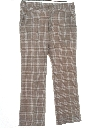 Mens Flared Plaid Disco Pants