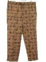 Mens Mod Retro Style Burberry Designer Flat Front Slacks Pants