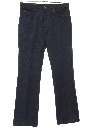 Mens Flared Jeans-Cut Poly Denim Look Pants