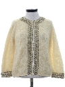 Womens Mod Beaded And Sequined Cocktail Sweater