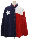 Mens Wicked 90s Patriotic Western Shirt