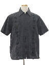 Mens Zip Front Guayabera Shirt