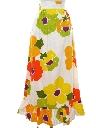 Womens Mod Hawaiian Maxi Skirt
