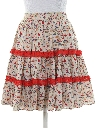 Womens Square Dance Mini Skirt