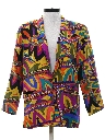 Womens Totally 80s Boyfriend Blazer Jacket
