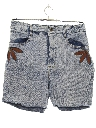 Womens Totally 80s Acid Washed Denim Jeans Shorts