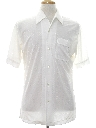 Mens Solid Disco Style Sport Shirt