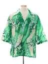 Mens Resort Wear Print Disco Hawaiian Style  Shirt