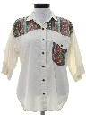 Womens Totally 80s Western Style Shirt