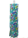 Womens Mod Hawaiian Maxi Shift Dress