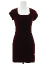 Womens Totally 80s Velvet Prom Or Cocktail Mini Dress