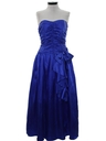 Womens Totally 80s Prom Or Cocktail Maxi Dress