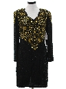 Womens Beaded Cocktail Dress