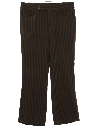 Mens Mod Flared Leisure Style Slacks Pants