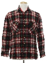 Mens Wool Flannel Sport Shirt