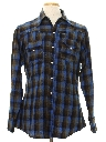 Mens Western Style Wool Flannel Shirt