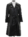 Womens Leather Overcoat Jacket