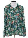 Womens Pullover Print Disco Shirt