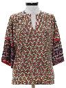 Womens Dashiki Style Hippie Shirt
