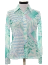 Womens Abstract Geometric Print Disco Shirt