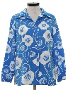 Womens Mod Pow-Flower Print Shirt