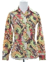 Womens/Girls Hippie Print Disco Shirt