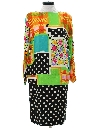 Womens Totally 80s A-Line Dress